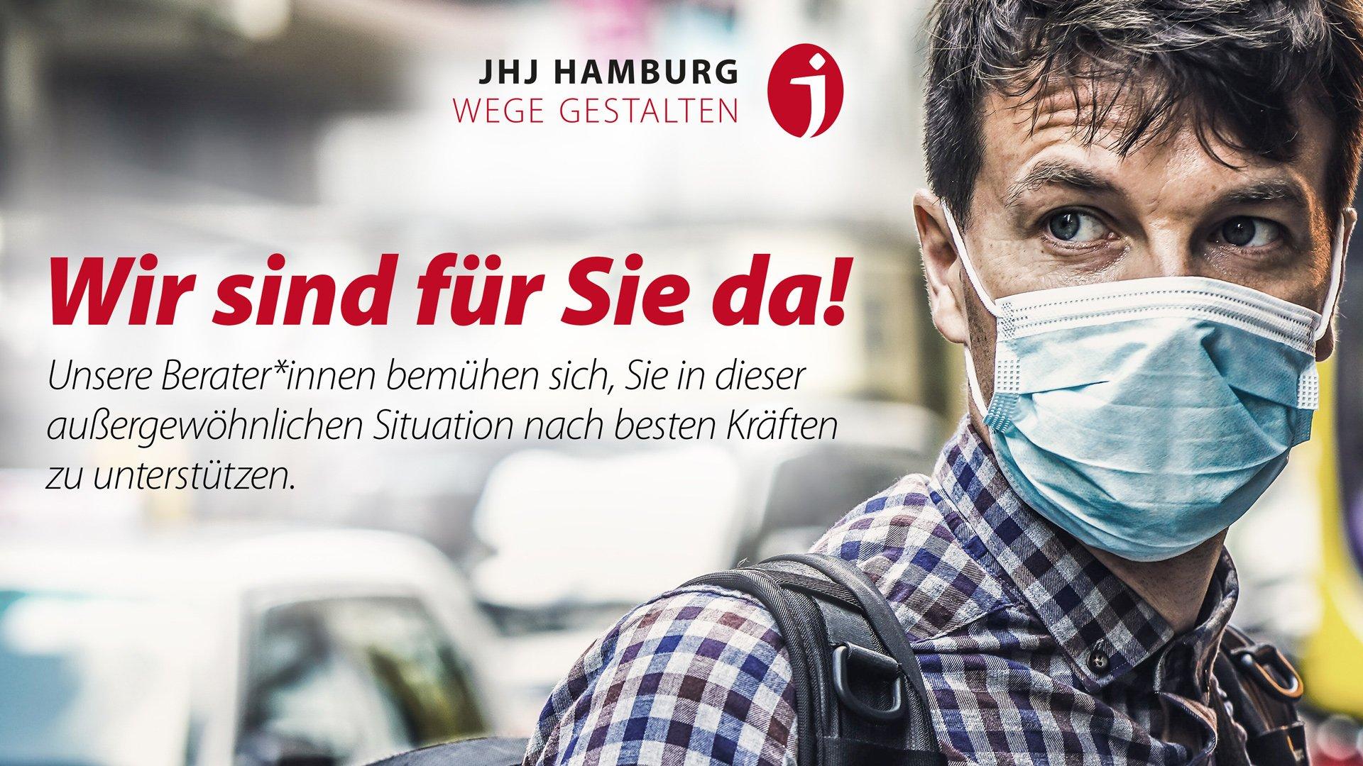 jhj-Hamburg Corona-Infektionsgefahren und COVID-19-PandemieWir sind für Sie da