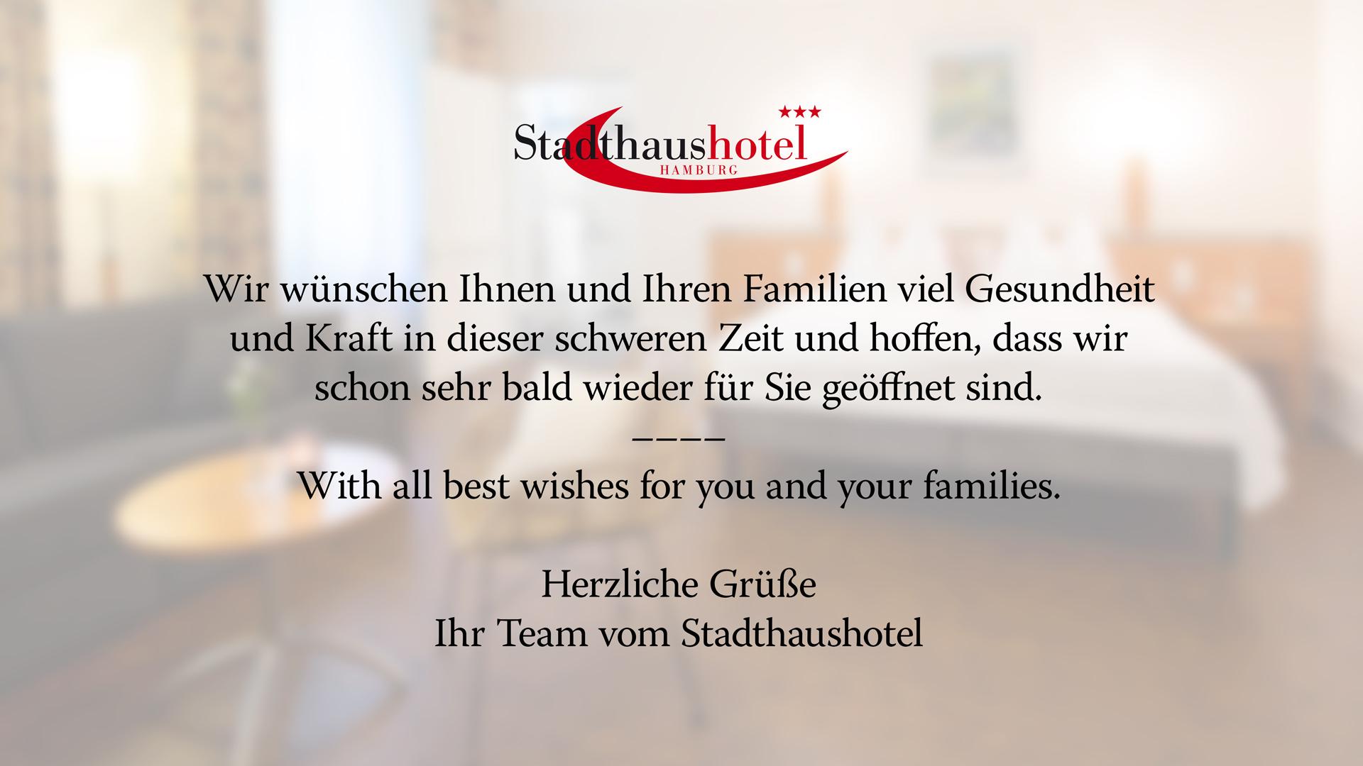 Stadthaushotel Hamburg COVID-19